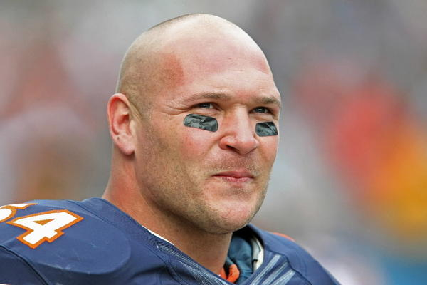 The Bears' Brian Urlacher during his team's game against the St. Louis Rams at Soldier Field Sept. 23, 2012.
