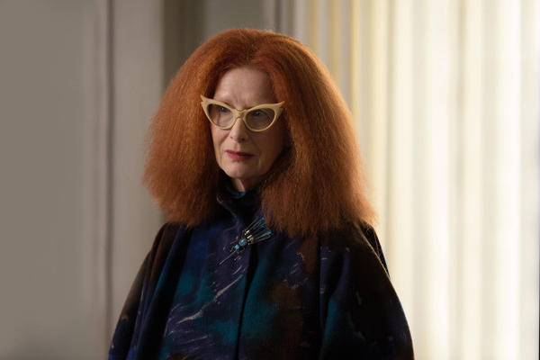 "Frances Conroy as Myrtle on ""American Horror Story: Coven."""