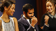 Golden Globes announcing trio