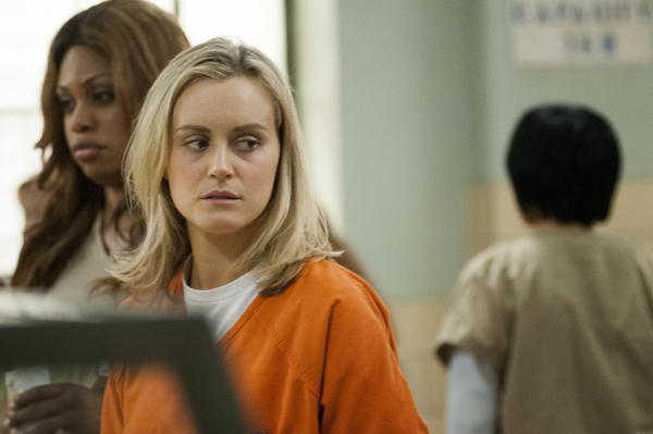 "Taylor Schilling in a scene from Netflix's ""Orange Is the New Black."""