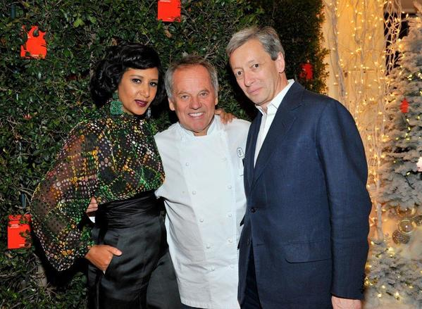 Barneys New York & Gelila Puck Hosted a Private Dinner on Dec. 11 in Honor of Fragrance Editor Frédéric Malle at Cut Sidebar in Beverly Hills. Gelila Puck, left, Wolfgang Puck, Frédéric Malle.