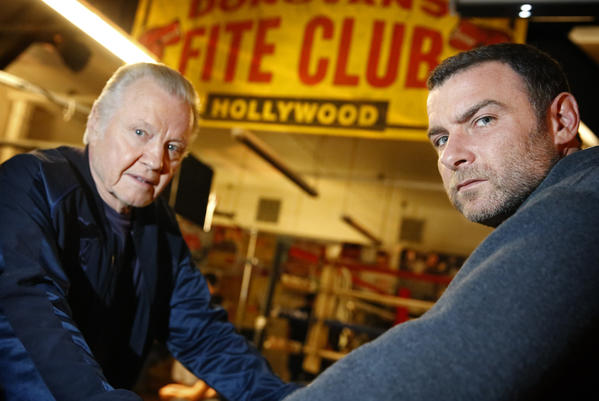 "Jon Voight, left, and Liev Schreiber, costars in the Showtime series ""Ray Donovan,"" were both nominated for Golden Globes Awards."