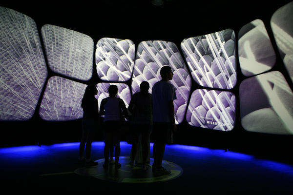 Interactive exhibit at the Adler Planetarium.
