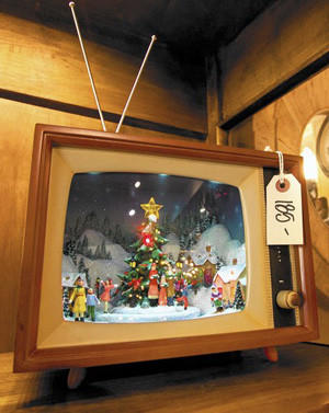 9. This TV Christmas, with lights and moving mechanical parts, is at Madison Square, 320 N. Coast Hwy. Prices vary, $85-$185.