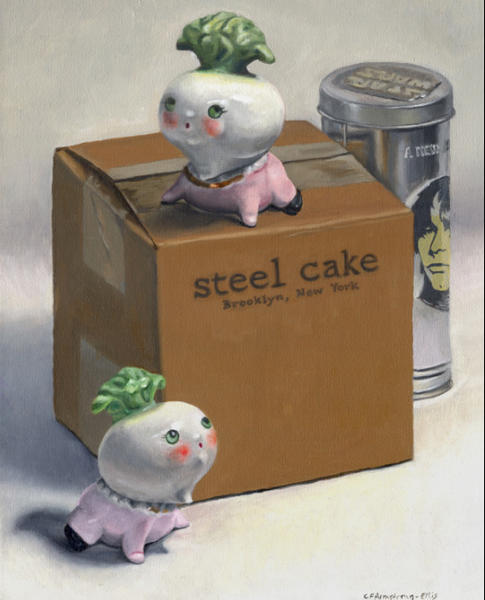 """Steel Cake"" by artist Carey Armstrong-Ellis."