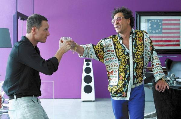 "Michael Fassbender, left, and Javier Bardem in ""The Counselor."""