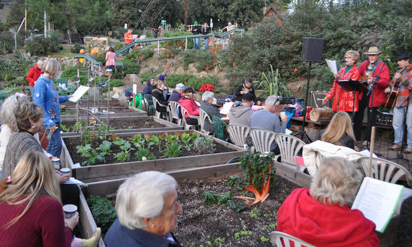 The South Laguna Community Garden Park at Eagle Rock Way and South Coast Highway.