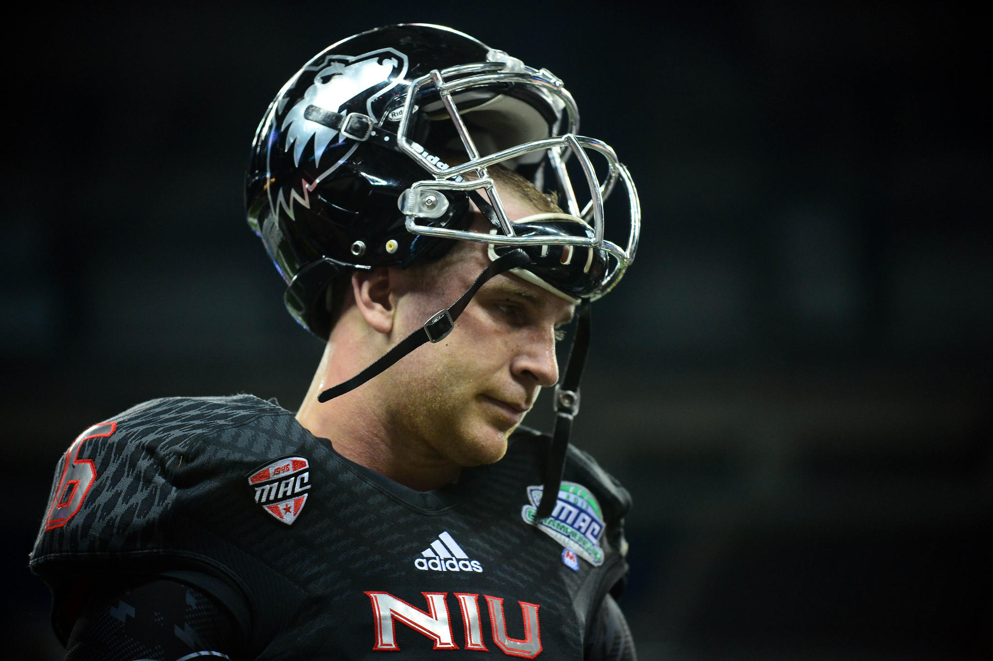 Northern Illinois quarterback Jordan Lynch on the sidelines during the second quarter against Bowling Green.