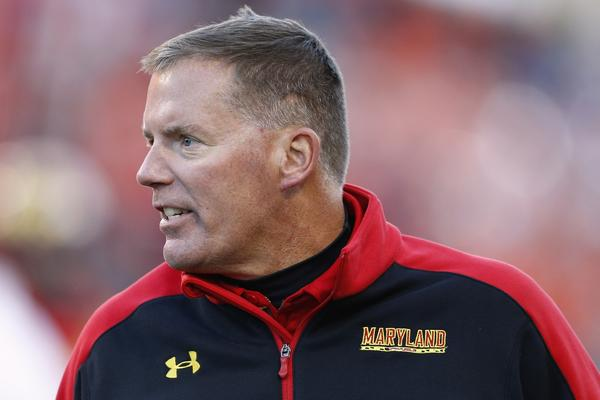 Terps football coach Randy Edsall leads his team against the Clemson Tigers in October.