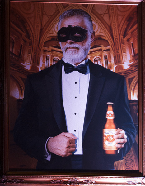 Partying with the Most Interesting Man in the World in Miami - Dos Equis masquerade at The Cruz Building, Miami