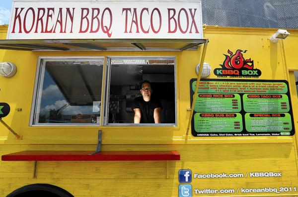 Follow the Korean BBQ Taco Box on Facebook.