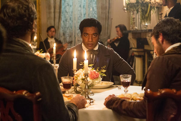 "Actor Chiwetel Ejiofor in a scene from ""12 Years a Slave."""