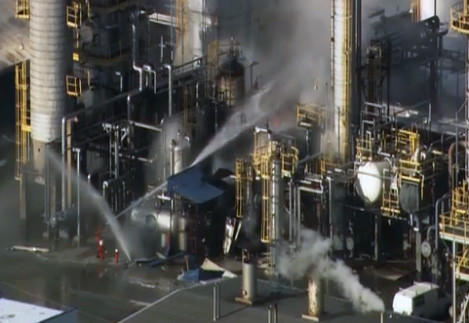 An explosion at a Blue Island chemical plant injured at least two workers this morning.