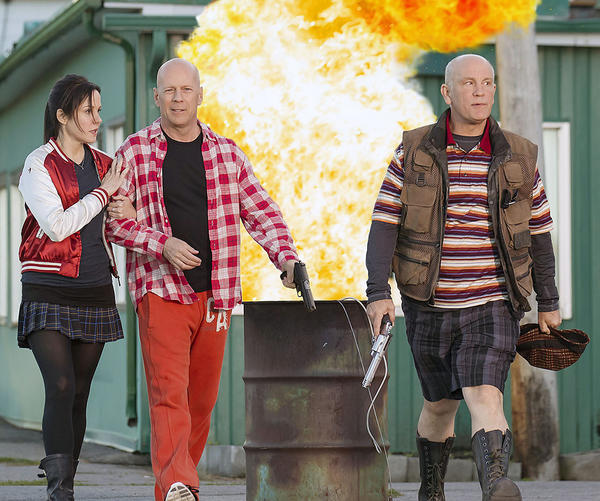 From left to right: Mary-Louise Parker, Bruce Willis and John Malkovich star in Red 2.