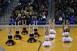 The St. Charles North High School drill team performs at a recent competition in Lake Zurich.