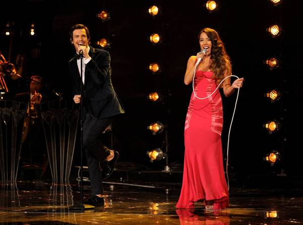 "Alex & Sierra perform on ""The X Factor."" The duo's cover of ""Gravity"" was No. 1 on iTunes' song chart"