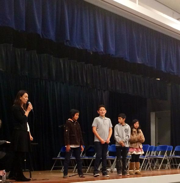 Noah Truong, Ahren Bagramyan, Alejandro Uribe, and Angel Lee will compete in the district spelling bee next month.