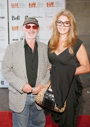 "Producer and director Jewison and actress Ann-Margret attend a screening of ""Up in the Air."""