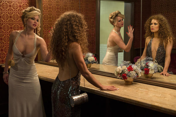 "Jennifer Lawrence and Amy Adams in Columbia Pictures' ""American Hustle."""