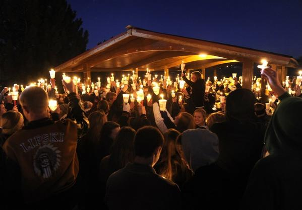 Arapahoe High School vigil