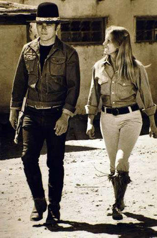 "Actors Tom Laughlin and Delores Taylor starred in the 1971 movie ""Billy Jack."""
