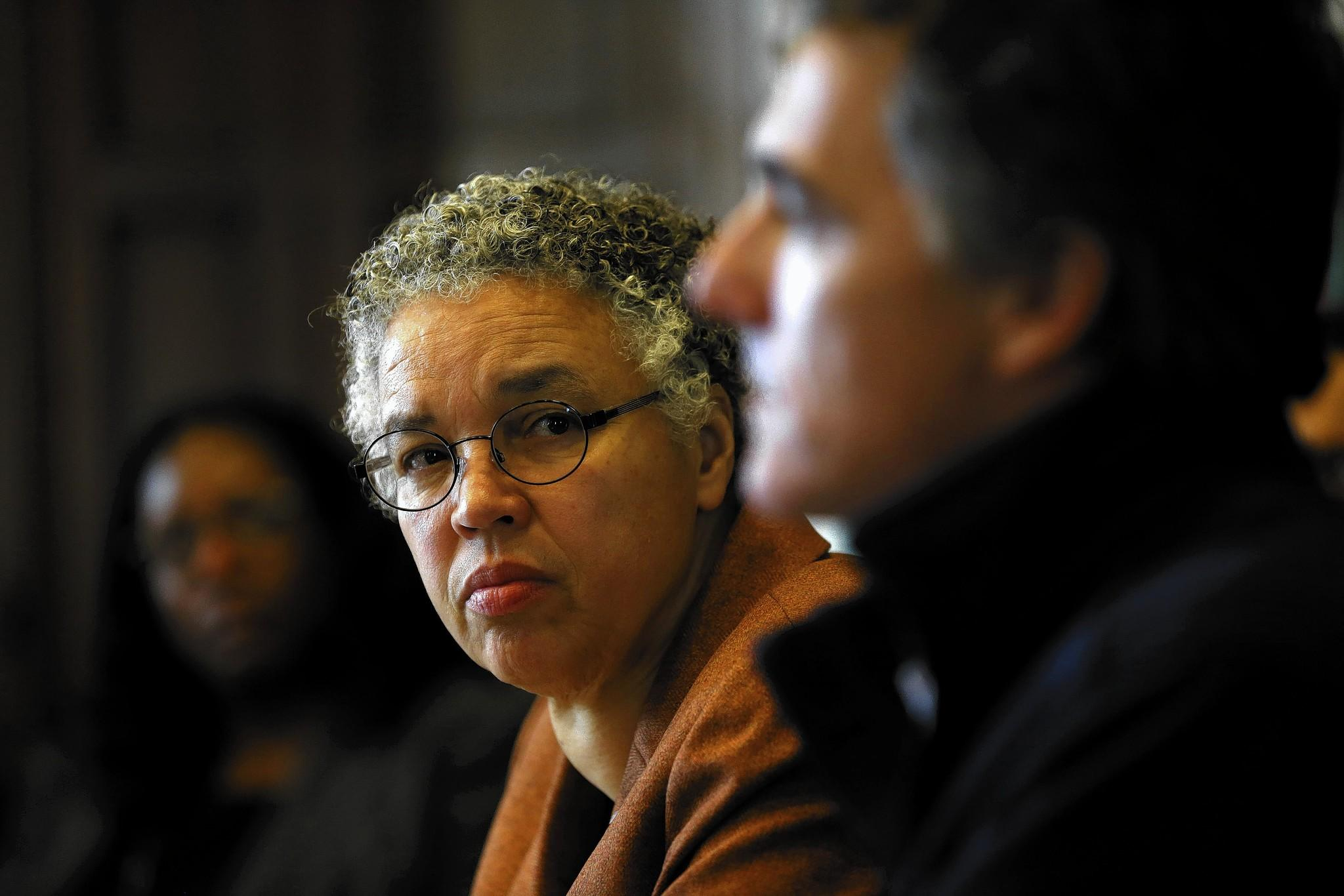 Cook County Board President Toni Preckwinkle, speaking to the Chicago Tribune's editorial board with Sheriff Tom Dart, has proposed letting her office handle the County Jail's overcrowding problem.