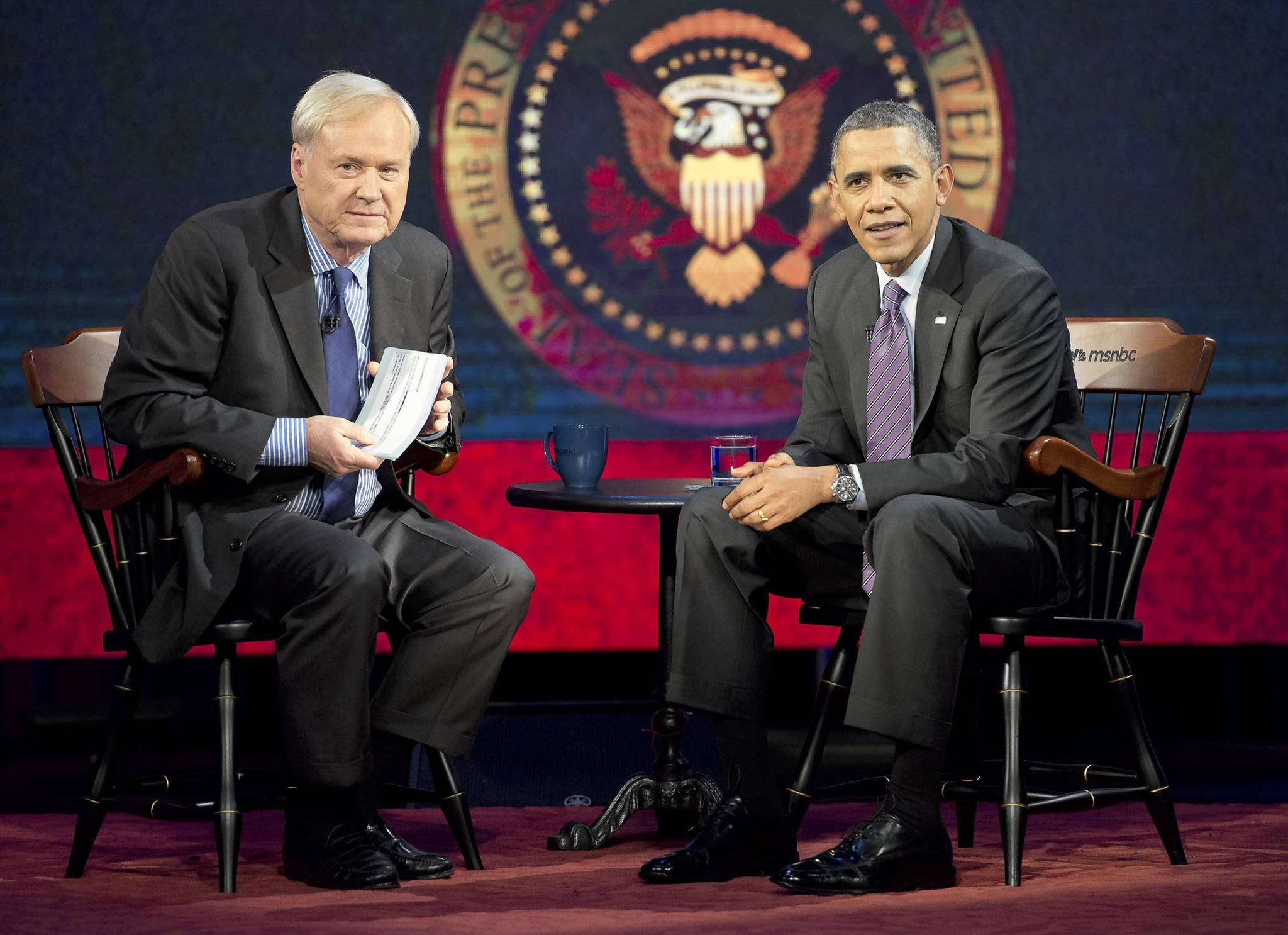 President Barack Obama was interviewed by MSNBC's Chris Matthews at American University earlier this month.