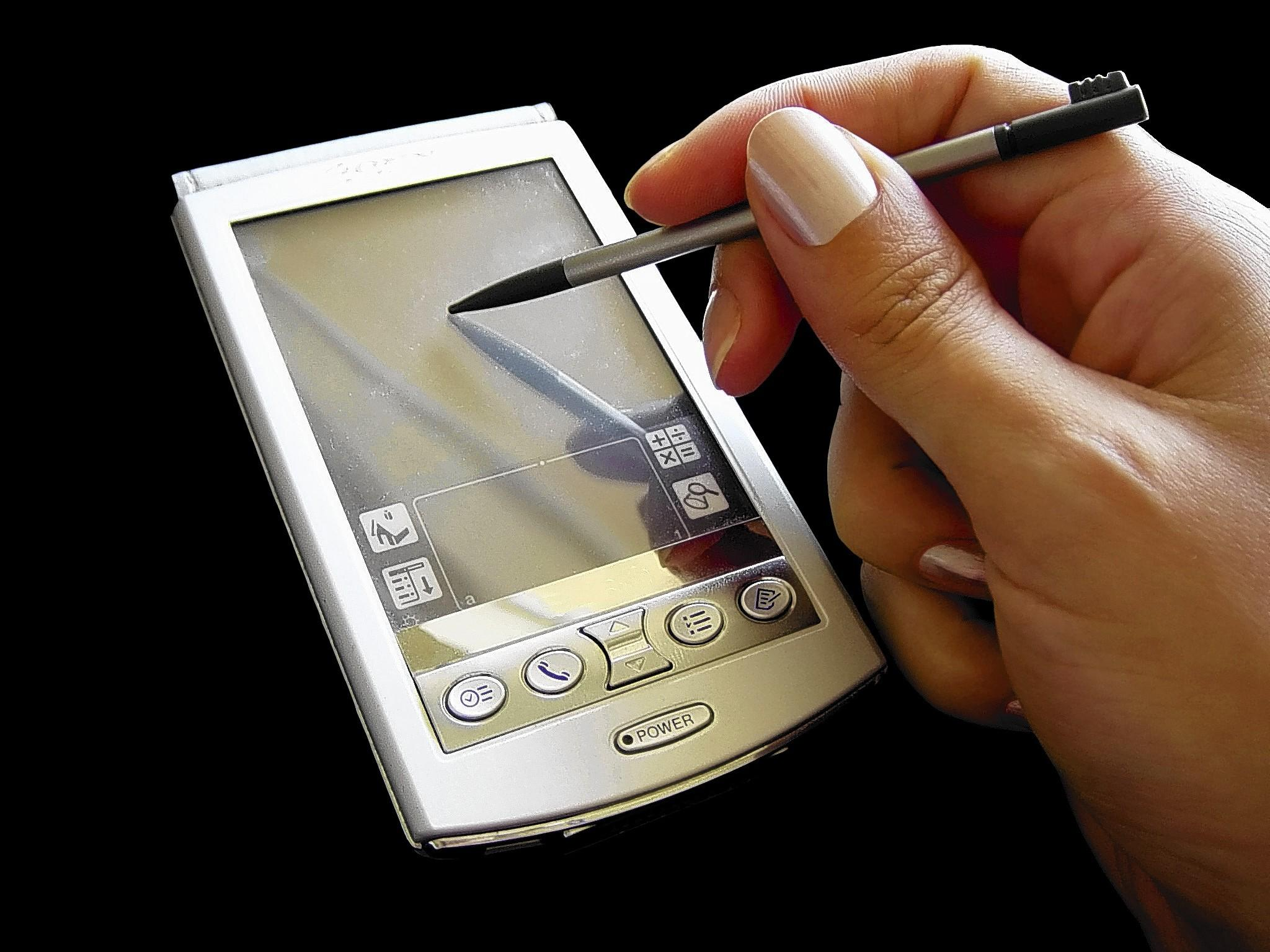 1990s-era personal digital assistants like the PalmPilot required a stylus. They synced contacts and had calendars, calculator, expense log, games and more.