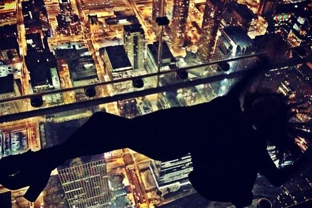 Pop star/actress Selena Gomez posted a photo on Instagram of The Ledge at Willis Tower's Skydeck, which she visited Dec. 10, 2013.