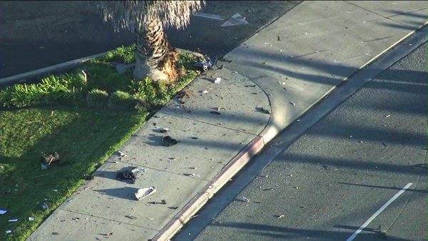 A crash near a Huntington Beach intersection on Monday killed two people.