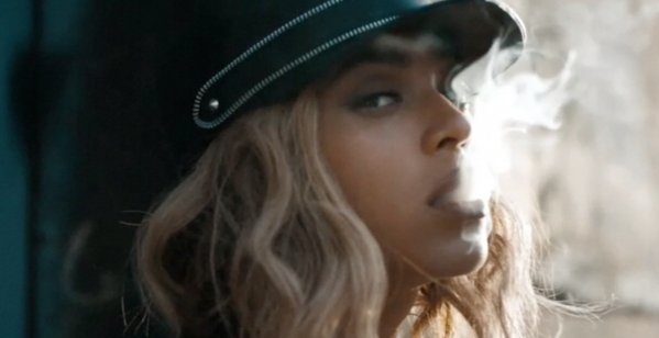 "Beyonce in her new video for ""Yonce."""
