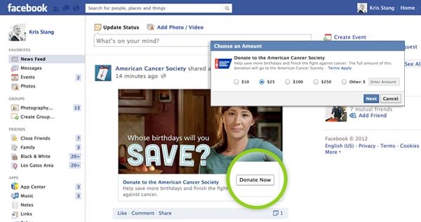 Facebook Donate