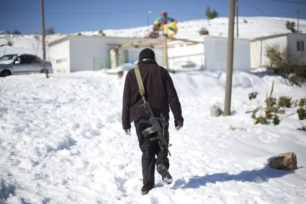 Rare snow blankets Middle East - Givat Asaf, West Bank