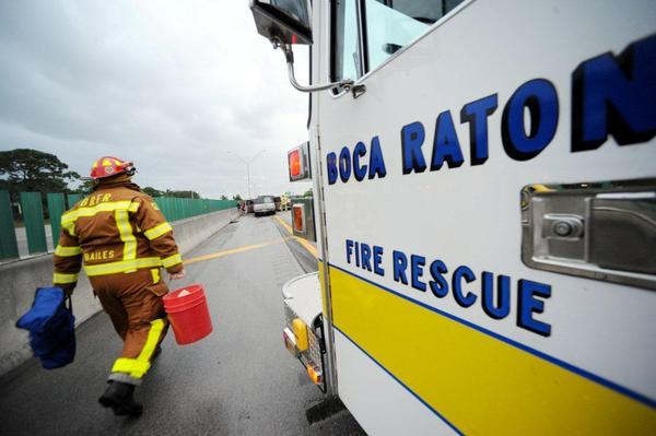 White and yellow are the colors of choice for Boca's emergency vehicles as studies have shown they catch motorists' attention better than red does.