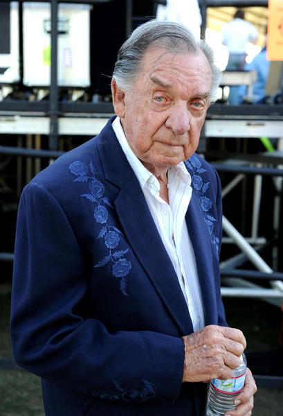 Musician Ray Price poses backstage at Stagecoach: California's Country Music Festival in 2010.