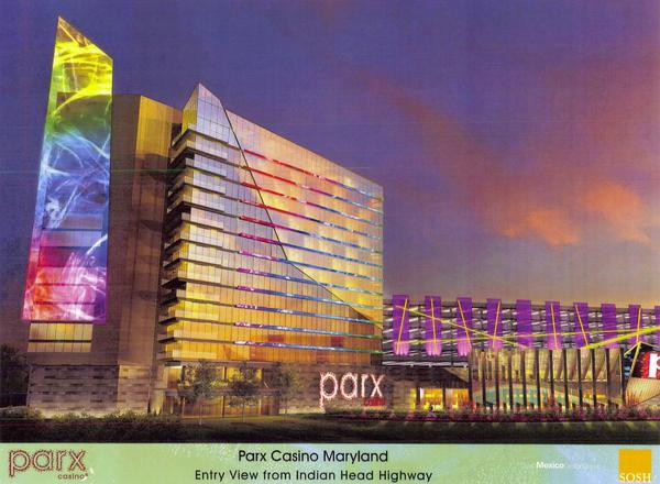 A rendering of for the Parx Casino Hotel & Spa proposed by Greenwood Racing/Maryland Casino LLC.