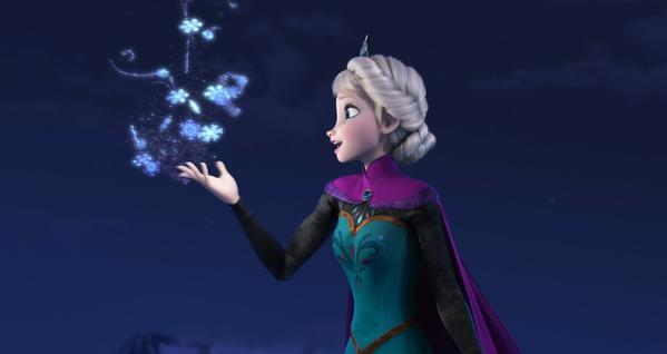 "Elsa the Snow Queen sings ""Let It Go"" from ""Frozen,"" one of 75 original songs shortlisted by the film academy."