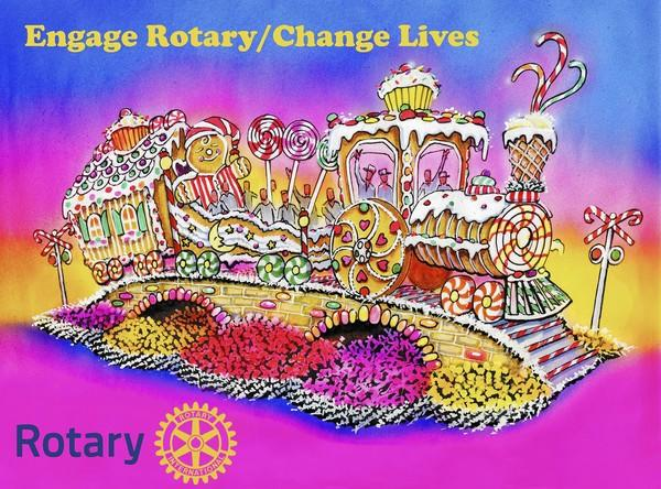 "Rotary International President Elect Ron Burton's theme for the 2013-2014 Rotary year is ""Engage Rotary-Change Lives,"" and the Tournament of Roses theme for the 2014 rose Parade is ""Dreams Come True."" They are focusing the 2014 float's design and theme by combining these two outstanding, and related themes."