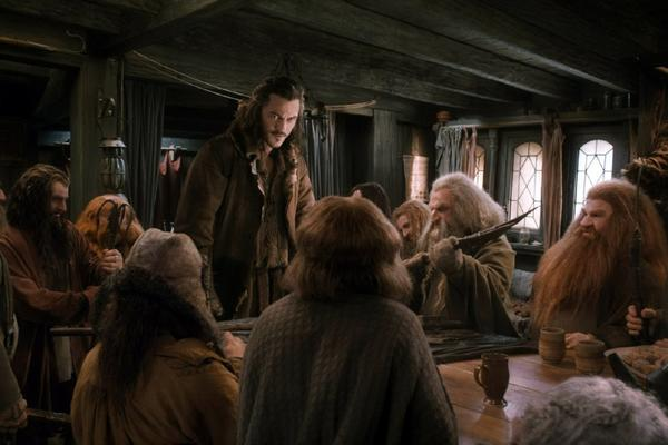 A scene from Peter Jackson's 'The Hobbit: The Desolation of Smaug'
