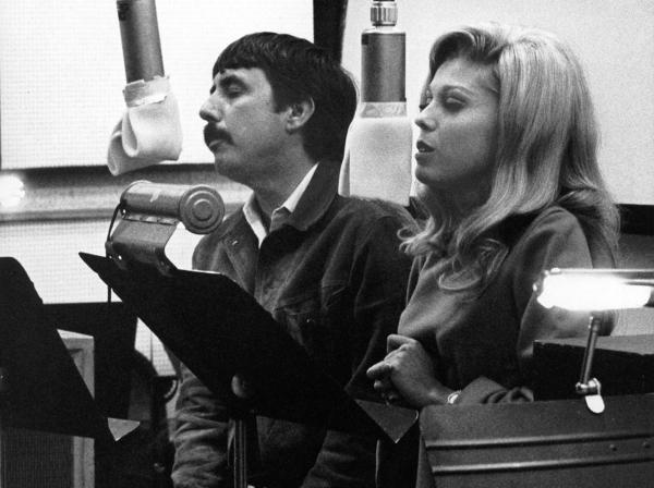 "Lee Hazlewood and Nancy Sinatra recorded ""These Boots Are Made for Walkin'."""