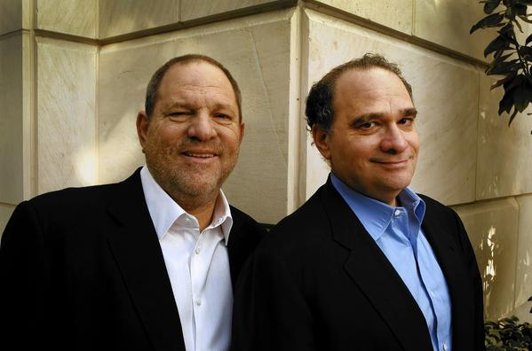 Harvey, left, and Bob Weinstein, who named Miramax after their parents, Miriam and Max, have reunited with the company 20 years after selling it to Walt Disney Co. They will collaborate on new content as well as projects that mine Miramax's rich film library.
