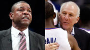Clippers' Doc Rivers and San Antonio's Gregg Popovich are quite a pair