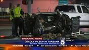 Seven Car Collision in Tarzana Leaves One Dead