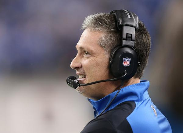 Lions head coach Jim Schwartz watches the action during the second quarter of the game against the Ravens at Ford Field.