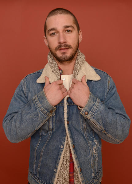 Shia LaBeouf, here at the 2013 Sundance Film Festival, has an awkward situation on his hands.