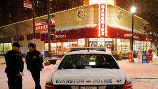 Bank robbery, shooting in Evanston