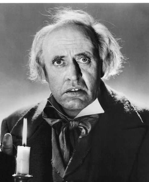 "the definitive Ebenezer Scrooge in the 1951 film, ""A Christmas Carol"