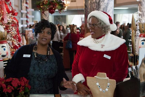 "Anna Maria Horsford, left, and Tyler Perry in a scene from ""Tyler Perry's A Madea Christmas."""