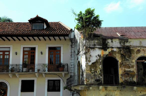 In Panama's old colonial district of Casco Viejo, rebirth stands alongside decay in the up and coming neighborhood.
