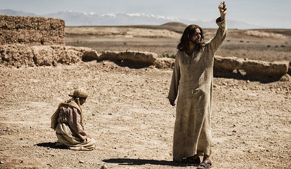 "Diogo Morgado plays Jesus, right, in ""The Bible."""